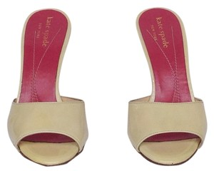 Kate Spade Opalescent Lt Yellow Mules