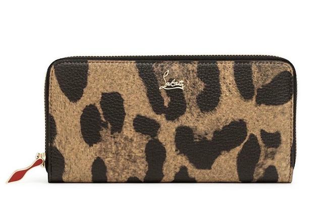 Item - New Panettone Leopard Wallet Continental Brown Leather Wristlet