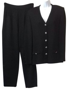St. John St. John Evening Black Knit Pant Suit 8