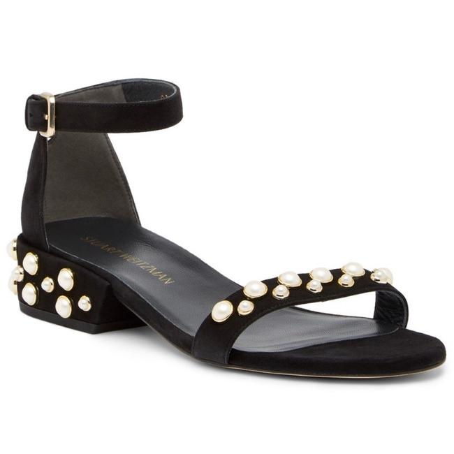 Item - Black All Pearls Studded Suede Sandals Size EU 38 (Approx. US 8) Regular (M, B)