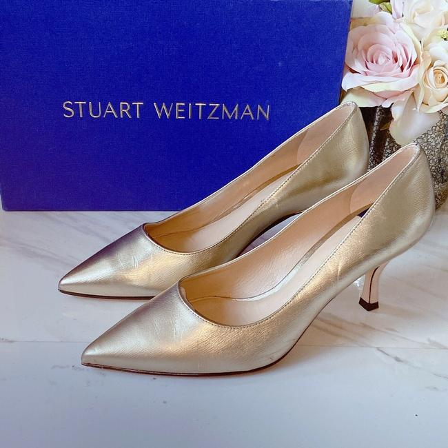 Item - Gold Tippi 70 Pointed Toe Metallic Leather Pumps Size US 7.5 Regular (M, B)