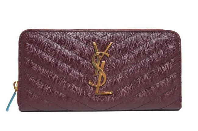 Item - New Large Rouge Zip-around Wallet Red Leather Wristlet