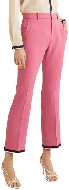 Item - Pink Cropped Grosgrain Trim Cady Bootcut Pants Size 6 (S, 28)