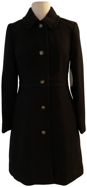 Item - Black Classic Lady Day In Italian Double-cloth Wool. Coat Size 10 (M)