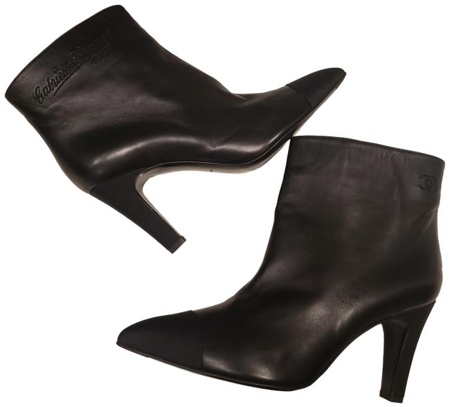 Item - Black Gabrielle 19c Coco Cc Signature Leather Cap Toe Ankle Heels Boots/Booties Size EU 39.5 (Approx. US 9.5) Regular (M, B)