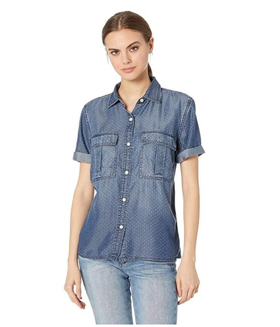 Preload https://img-static.tradesy.com/item/27840674/currentelliott-blue-the-amabel-chambray-shirt-button-down-top-size-2-xs-0-0-650-650.jpg