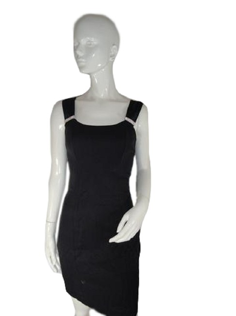 Item - Black with Silver Accents (No Tag) (Sku 000194-12) Mid-length Cocktail Dress Size 14 (L)
