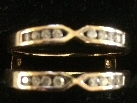 14k Yellow Gold Solitaire Enhancer
