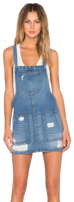 Item - Blue Sophia Overall Short Casual Dress Size 2 (XS)
