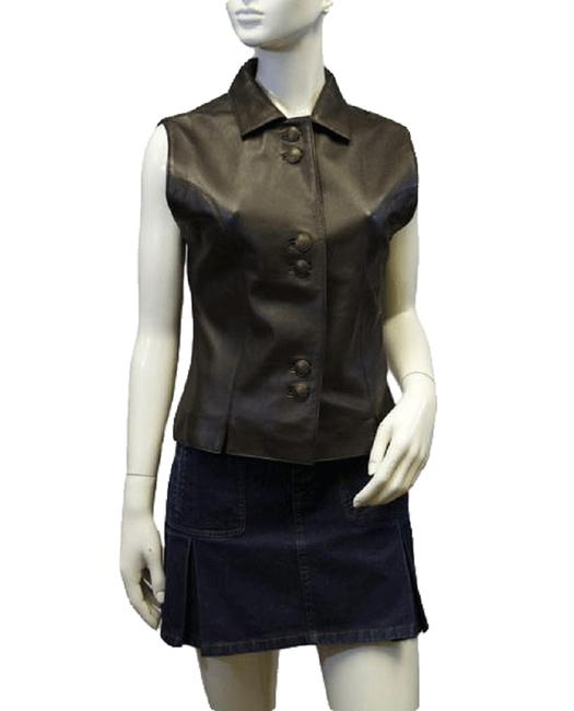 Item - Brown Womens Leather Sku 000038 Vest Size 4 (S)
