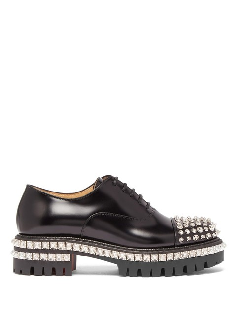 Item - Black Mf Kings Road Studded Leather Oxford Formal Shoes Size EU 40.5 (Approx. US 10.5) Regular (M, B)