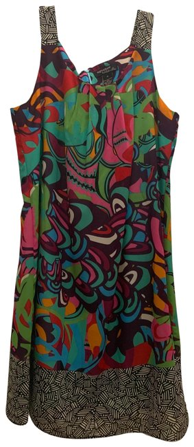 Item - Multicolor Print Passion Mid-length Work/Office Dress Size 16 (XL, Plus 0x)