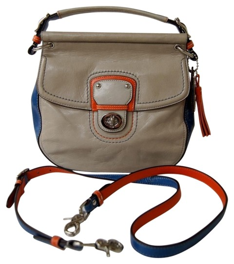 Preload https://item1.tradesy.com/images/coach-willis-city-colorblock-70th-anniversary-limited-edition-19035-grey-blue-tangelo-waxed-italian--2784205-0-0.jpg?width=440&height=440