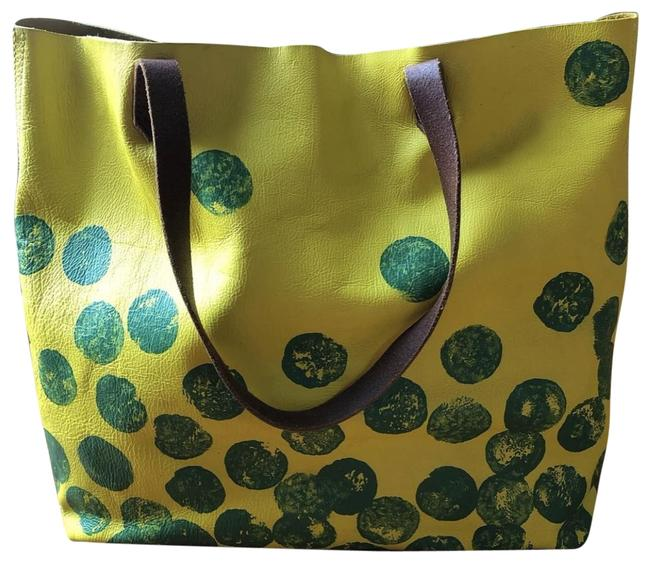 Item - Transport Yellow Leather Tote