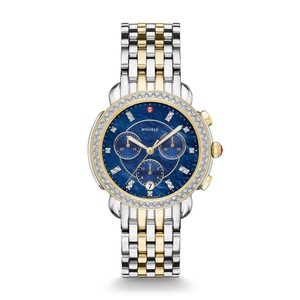 Michele Two Tone Stainless Steel Sidney Mother of Pearl Diamond MWW30A000048
