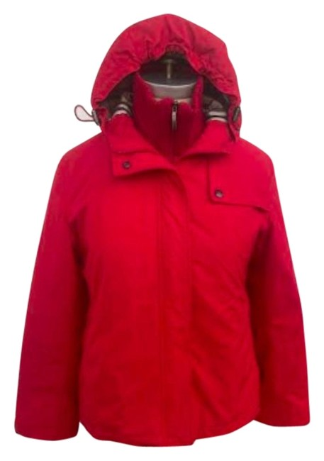 Item - Red Hooded Small Coat Size 4 (S)