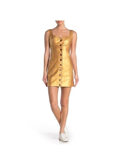 Item - Gold Goldie Mini Short Night Out Dress Size 4 (S)