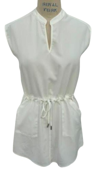 Item - White Drawstring Small Short Casual Dress Size 4 (S)