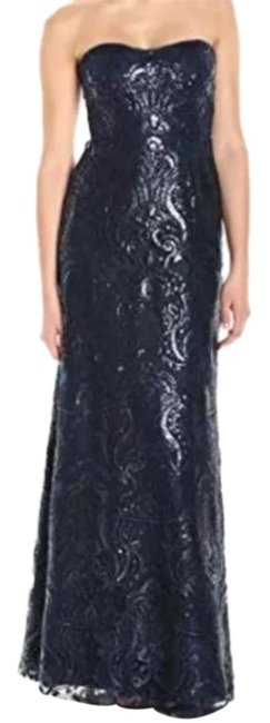 Item - Blue Sadie Sequined Navy Long Formal Dress Size 0 (XS)