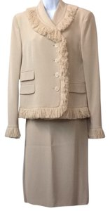 Moschino Moschino Fringes Silk Skirt Suit 12