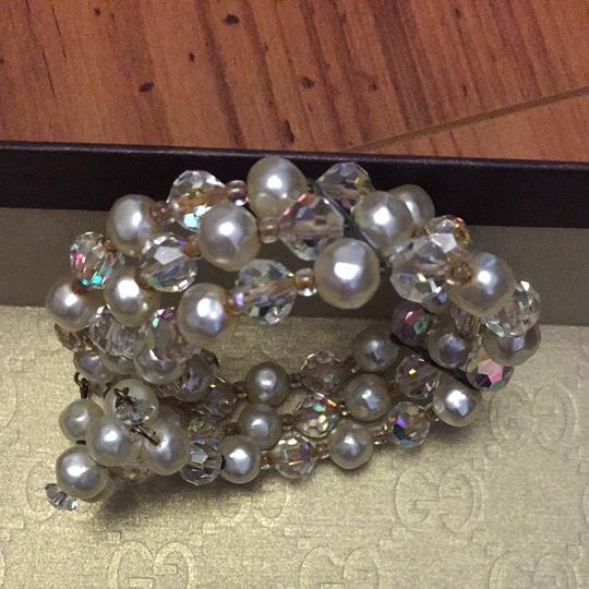 Other Vintage Faux Pearl And Crystal Bracelet