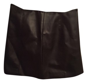 MM Couture Mini Skirt Black leather