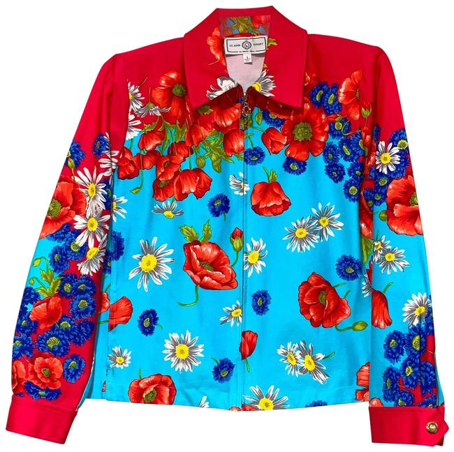 Item - Red Blue Sport By Marie Gray Jacket Size 4 (S)