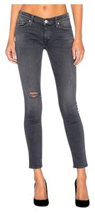 Hudson Jeans Distressed Skinnyjean Denim Distresseddenim Straight Leg Jeans-Dark Rinse