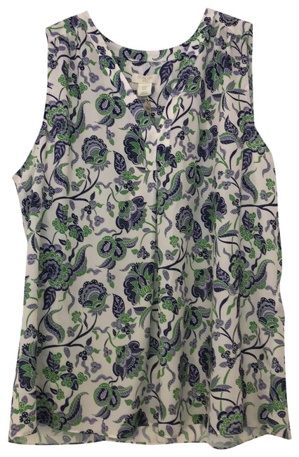 Item - Purple Violet Green and White 100170 Blouse Size 16 (XL, Plus 0x)