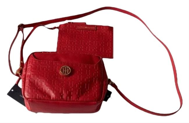 Tommy Hilfiger With Pouch Red Cross Body Bag Tommy Hilfiger With Pouch Red Cross Body Bag Image 1