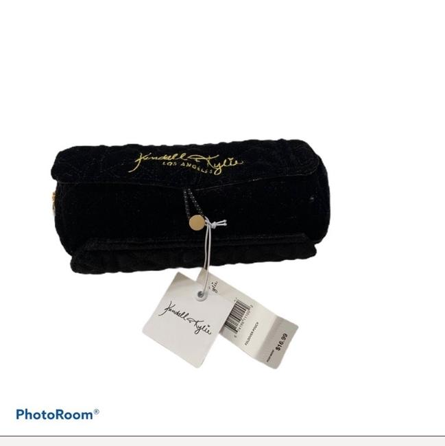 Item - Black Foldover Pouch Cosmetic Bag