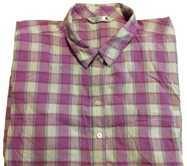 Item - Multi with Pink Button-down Top Size 26 (Plus 3x)