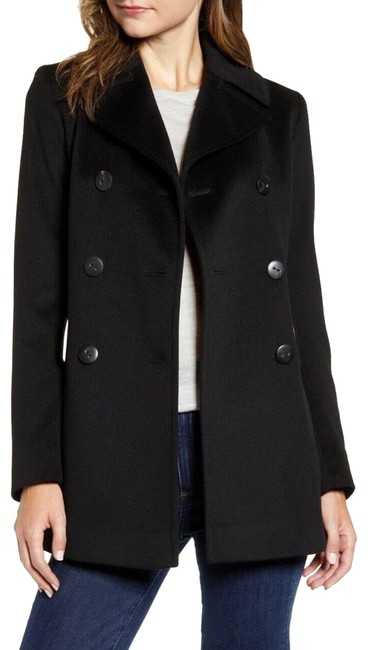 Item - Black Double Breasted Wool Coat Size 12 (L)