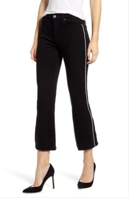 Item - Black Delivered Piped High Waist Slim Kick Crop Jeans-sz26 Skinny Jeans Size 2 (XS, 26)
