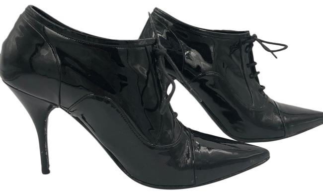 Item - Black Patent Leather Lace Up Boots/Booties Size US 6.5 Regular (M, B)
