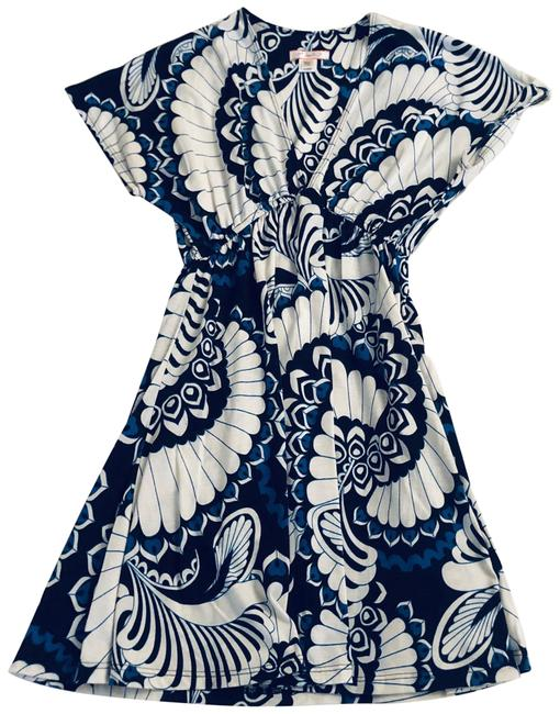 Item - Beige/Black/Blue Printed Tunic Cover-up/Sarong Size 0 (XS)