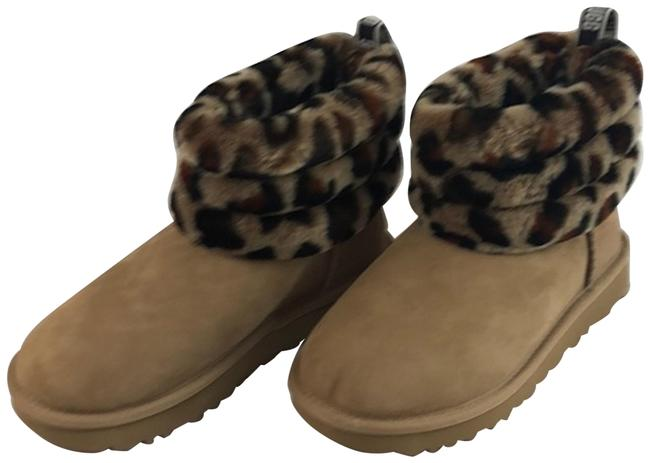 Item - new Fluff Mini Quilted Leopard Boots/Booties Size US 5 Regular (M, B)