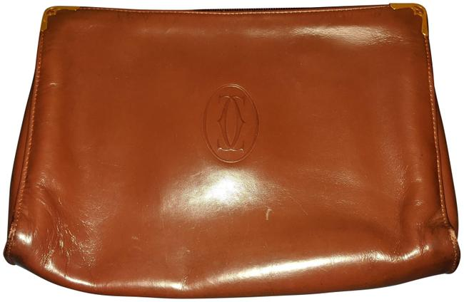 Item - #1*** Brown Leather Clutch