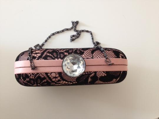 Jessica McClintock Vintage Lace pink and black Clutch