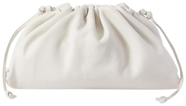 Item - Pouch Large Gathered White Leather Clutch