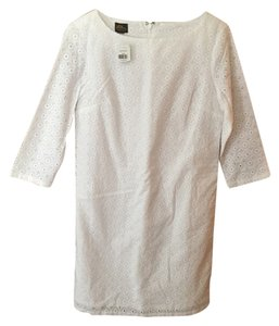 L.L.Bean short dress White eyelet Shift on Tradesy