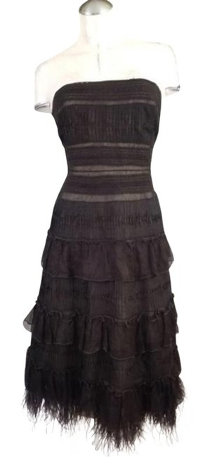 Item - Brown Strapless Flapper Inspired Mid-length Cocktail Dress Size 6 (S)