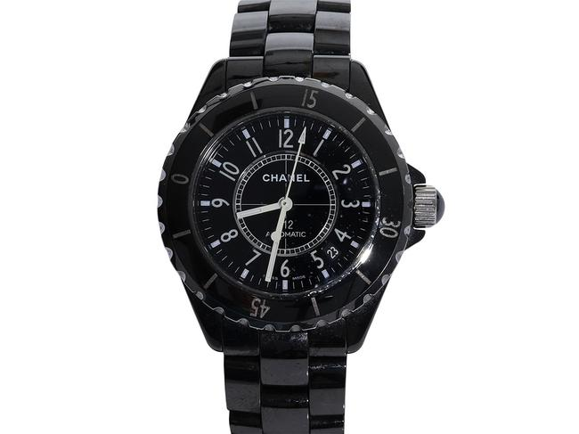 Chanel Black Enamel and Stainless Steel J12 38mm Watch Chanel Black Enamel and Stainless Steel J12 38mm Watch Image 1