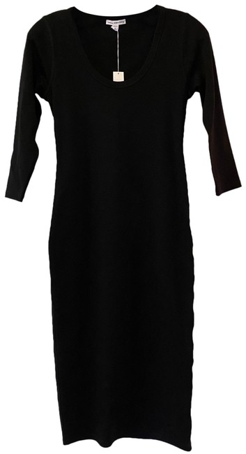 Item - Black Stretchy Mid-length Casual Maxi Dress Size 2 (XS)