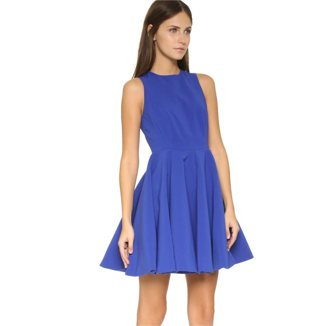 Item - Blue Robyn Fit and Flare Short Cocktail Dress Size 4 (S)