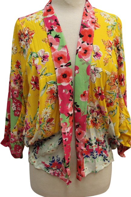 Item - Multicolor Anthropologie No Clasp Closure Wrap Batwing Jacket Size OS (one size)