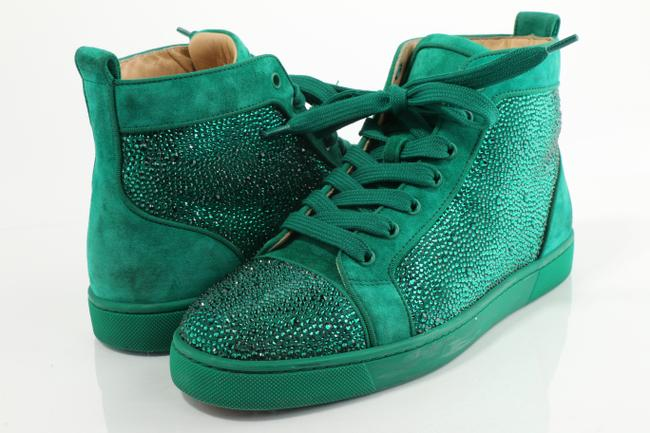 Item - Green Louis Strass Flat Sneakers Shoes
