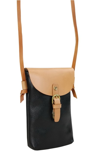 Vagarant Cowhide Slim Yp07001 Black Leather Cross Body Bag Vagarant Cowhide Slim Yp07001 Black Leather Cross Body Bag Image 1