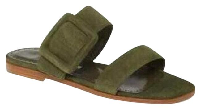 Item - Green Tituba Suede Covered Buckle Sandals Size EU 36.5 (Approx. US 6.5) Regular (M, B)