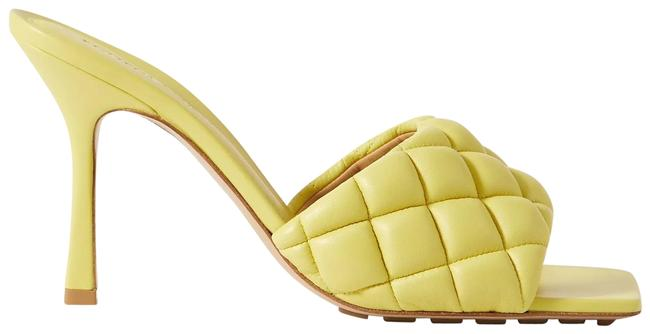 Item - Yellow Quilted Leather Mules/Slides Size EU 35 (Approx. US 5) Regular (M, B)
